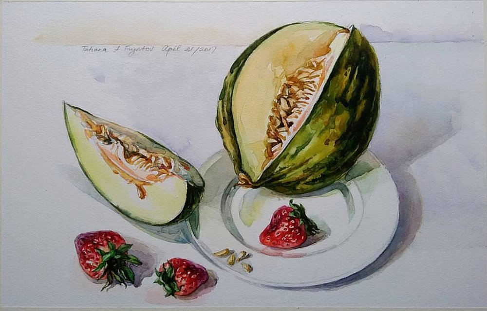 The Strawberries and the Santa Claus Melon