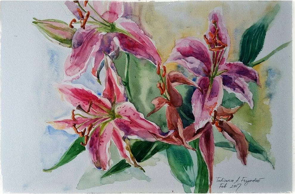 The Wilting Pink Lilies