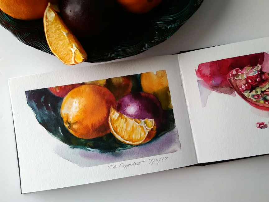 Oranges and a Plum