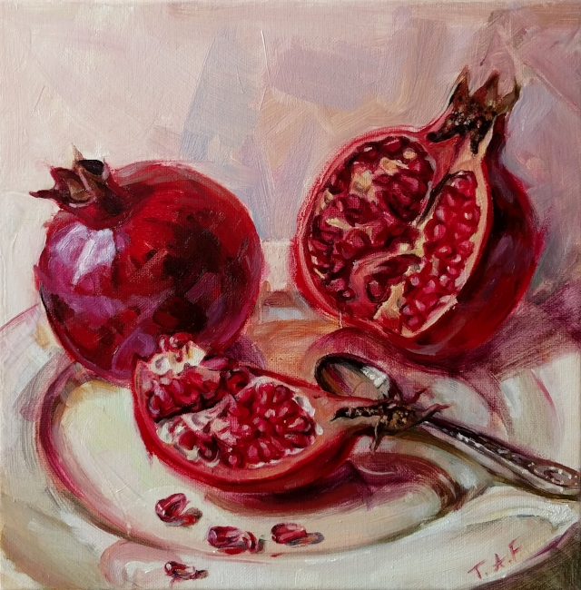 The Pomegranates closeup. 2017