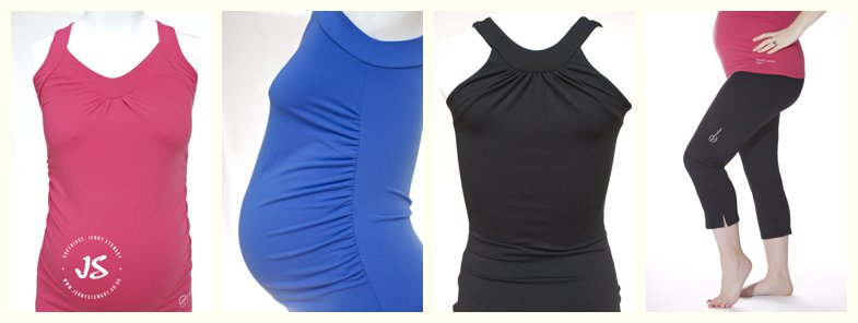 collage of images of the maternity fitwear range from Mums2B