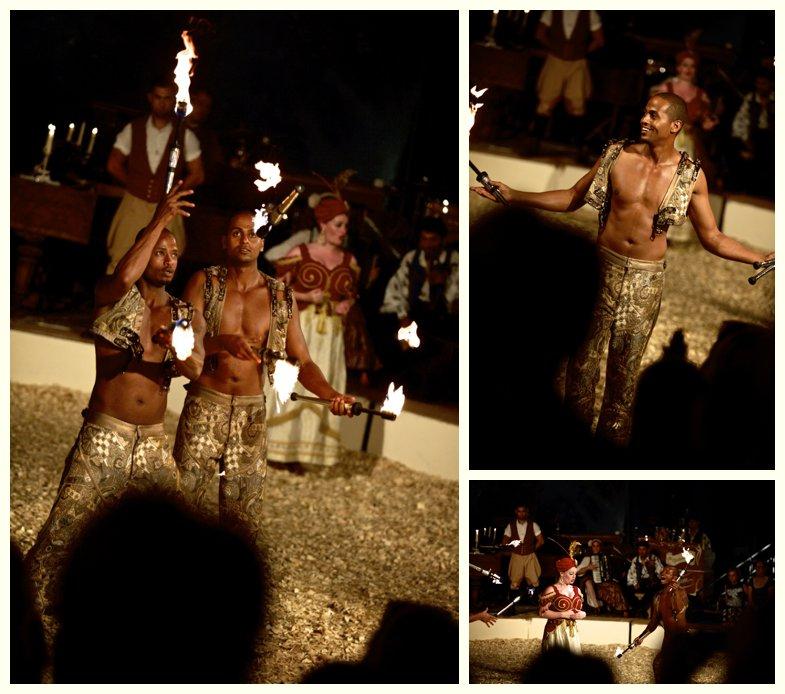 Bibi and Bichou juggling at Giffords Circus