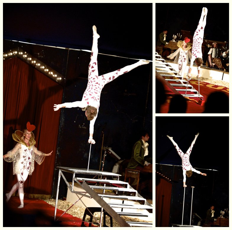 acrobat at Giffords Circus