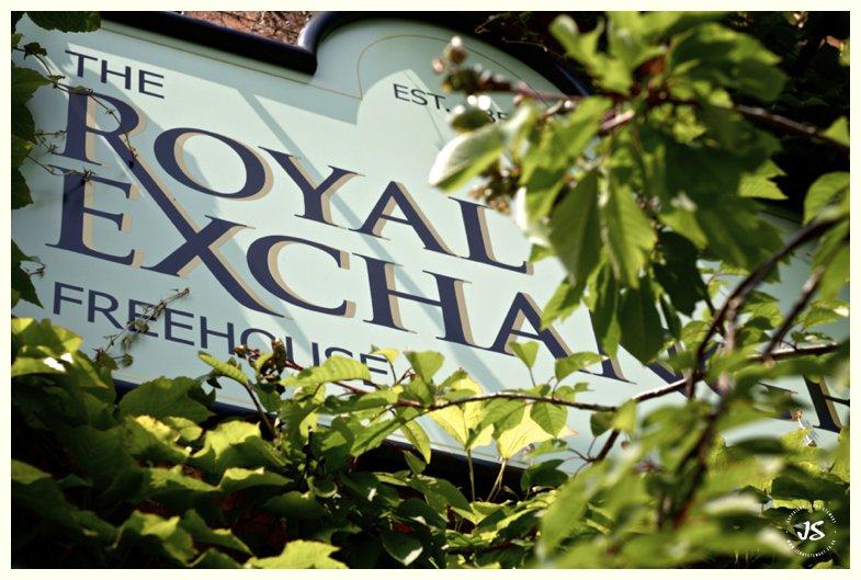 The Royal Exchange Hartbury sign