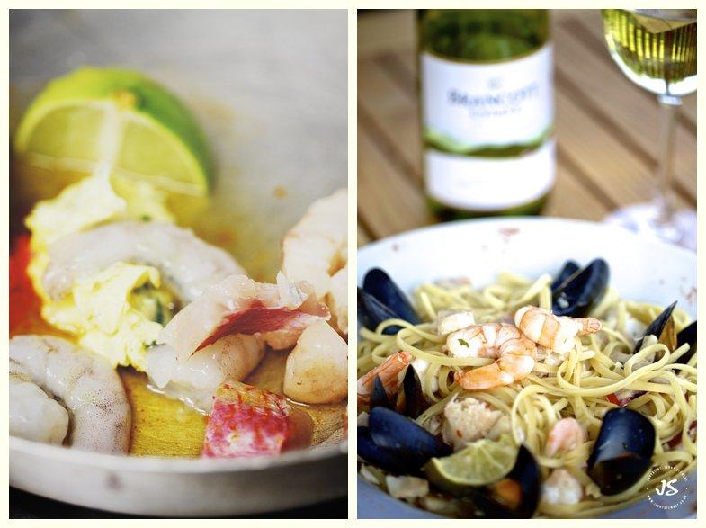 The Royal Exchange Hartbury seafood linguine