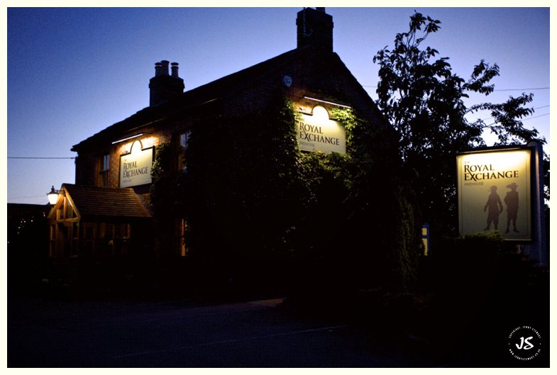 The Royal Exchange Hartbury at night