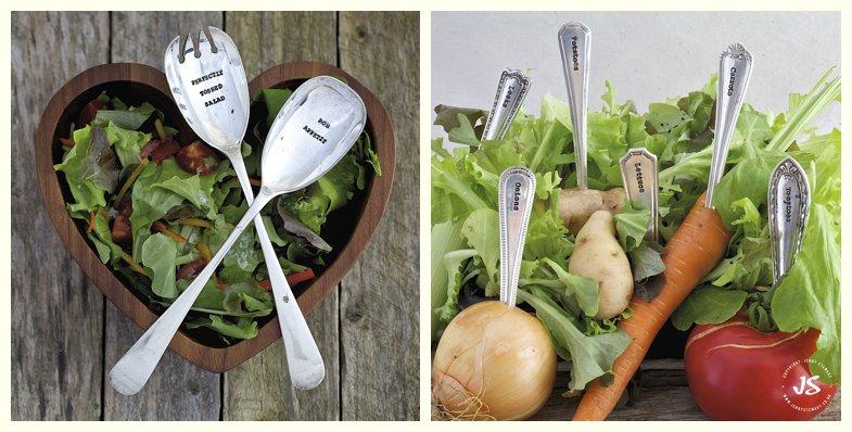 La de da hand-stamped vintage cutlery