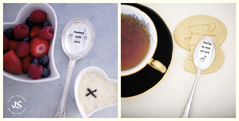 La de da hand stamped vintage cutlery