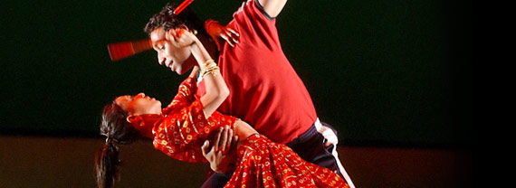 Fiona Wade (Preethi)  & Paul Tilley (Raza),   Strictly Dandia, 2003