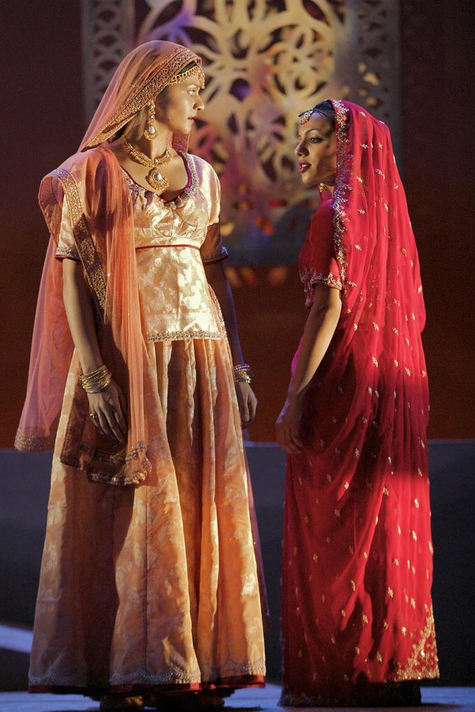 Sheena Patel (Anita) and Youkti Patel (Shakuntala)