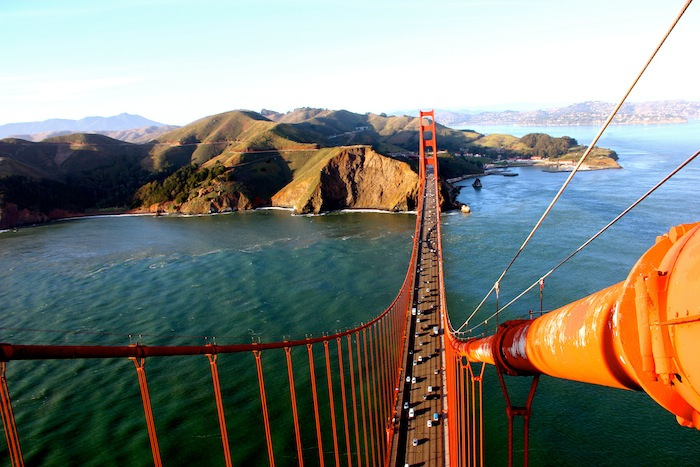 photo from the top of the golden gate bridge