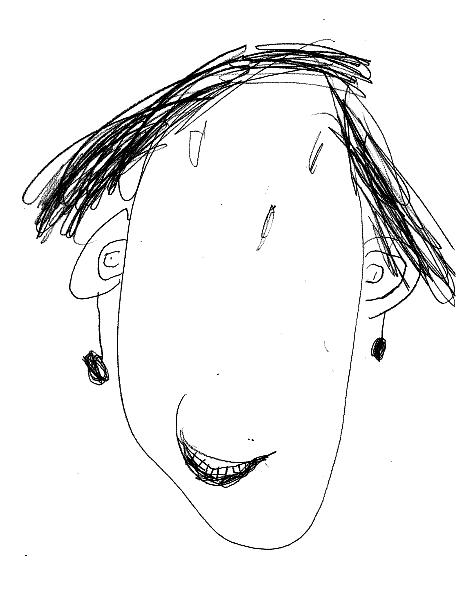 Courtlyn , Kinderarten  Autoretrato  lápiz y papel