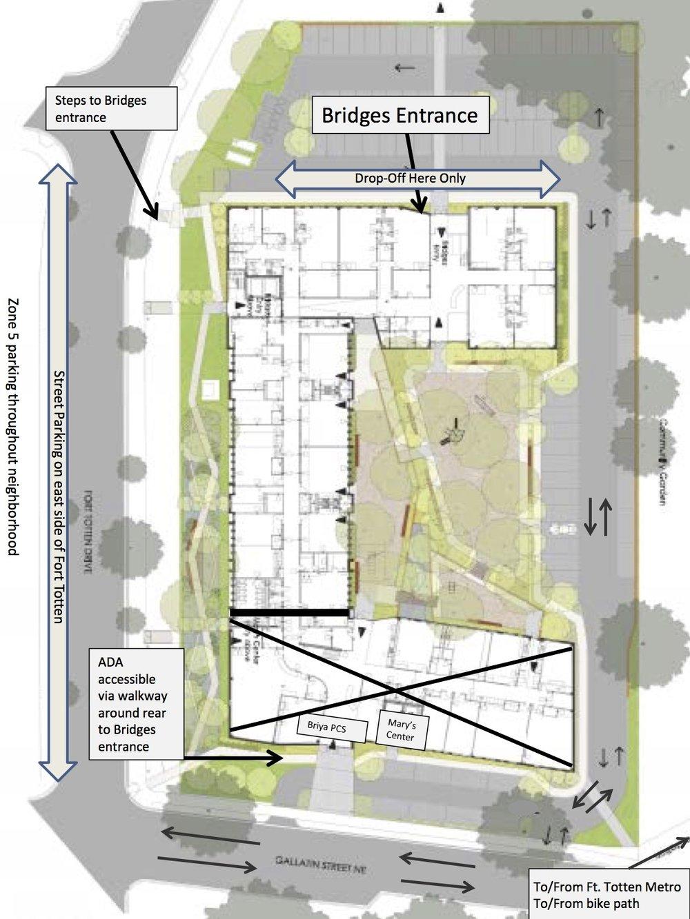 Parkingdropoffinformation  Bridges Public Charter School - Washington dc bridges map