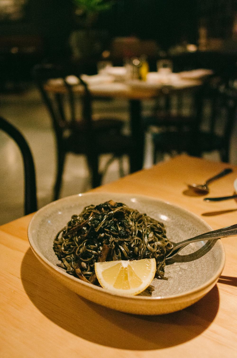 Pasta of the Day - Cuttlefish Tagliolini ($27.00)
