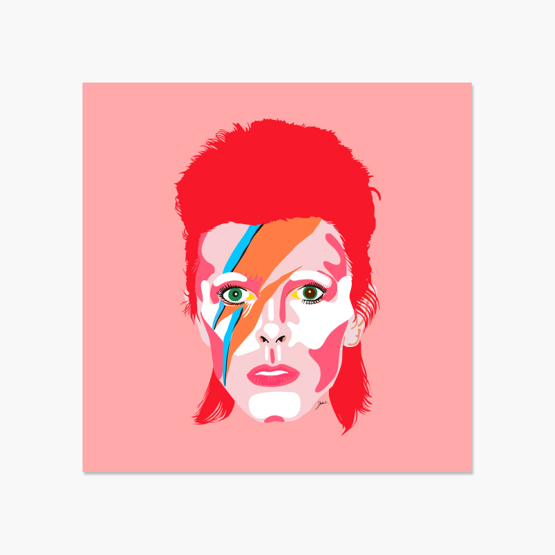 David Bowie 12x12 Print