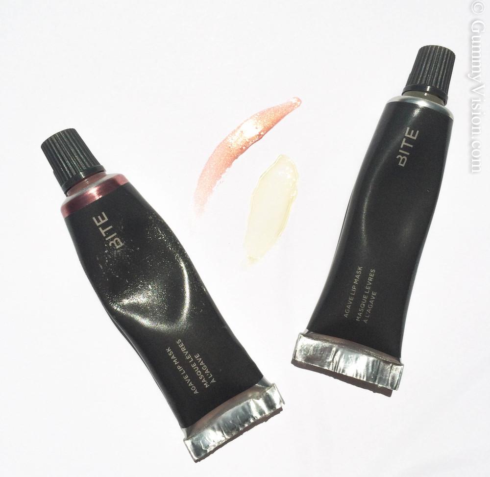 Bite Beauty Agave Lip Mask in Champagne (L) & the original (R)