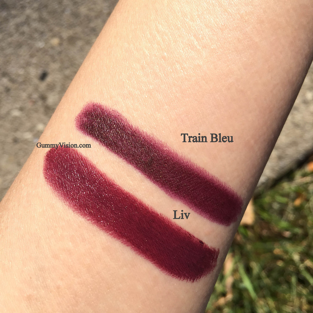 NARS Audacious Lipstick in Liv and NARS Velvet Matte Lip Pencil in Train Bleu