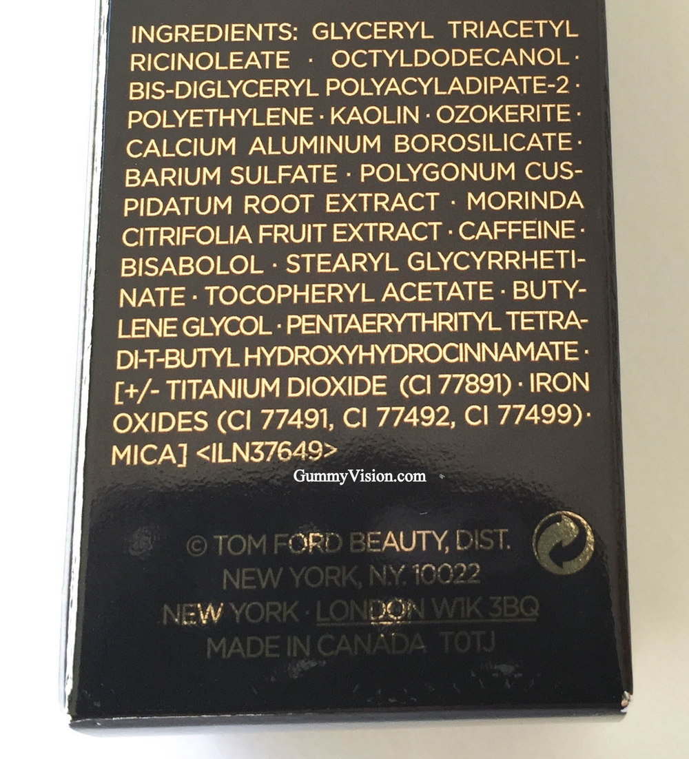 Tom Ford Traceless Foundation Stick ingredients - www.gummyvision.com