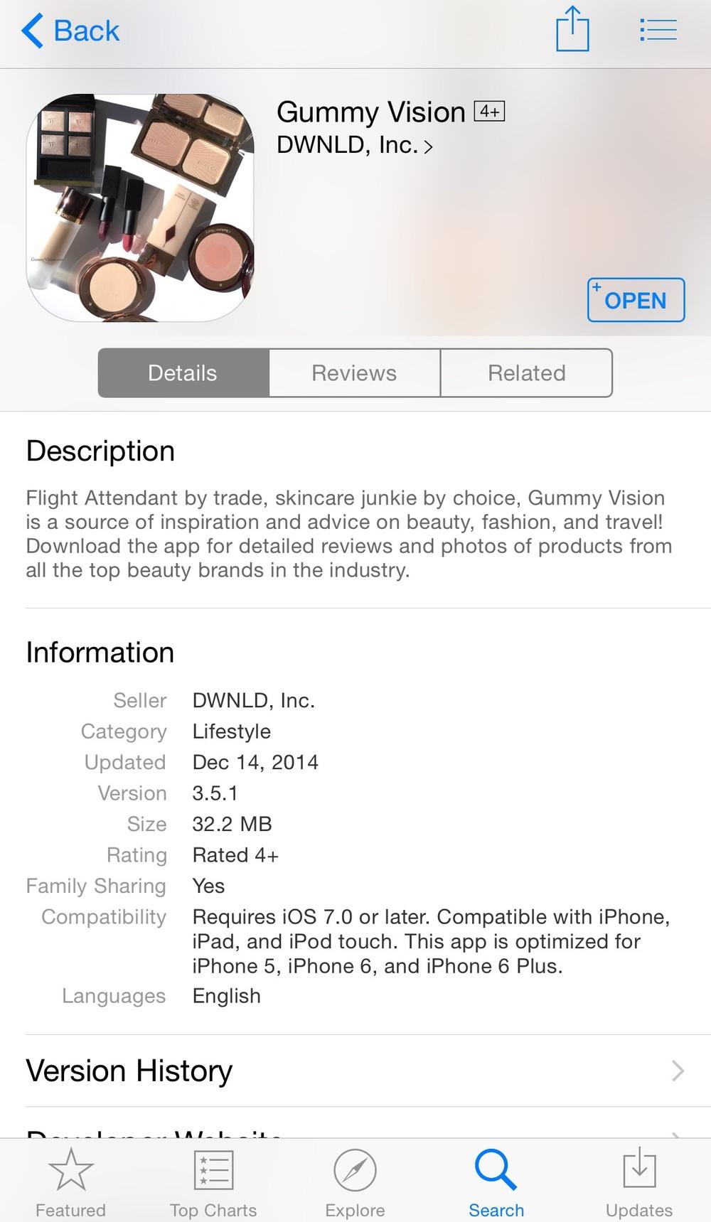 Gummy Vision app - www.gummyvision.com