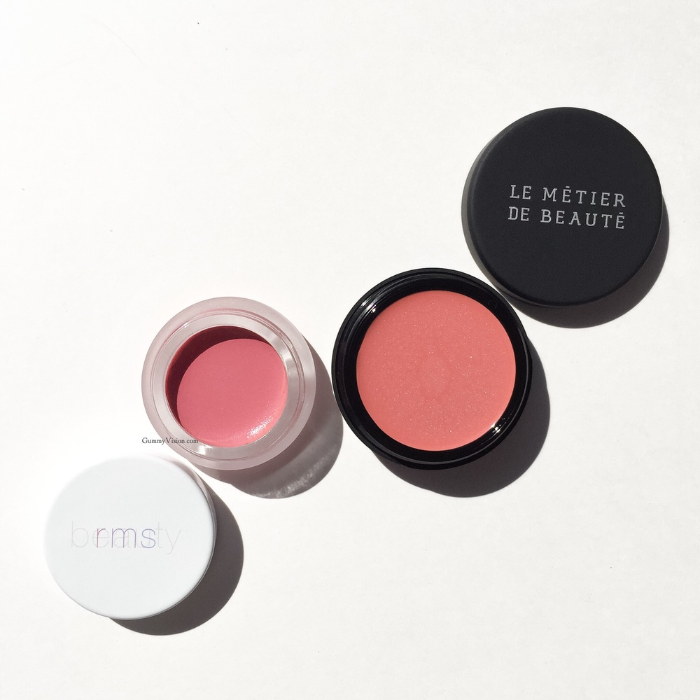 RMS Lip 2 Cheek in Demure & Le Métier de Beaute Creme Fresh Tint in Poppy - gummyvision.com