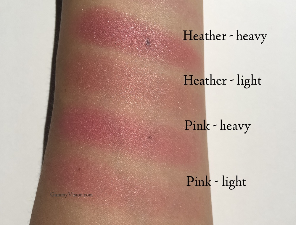 Clinique Cheek Pop swatches in Pink Pop & Heather Pop - gummyvision.com