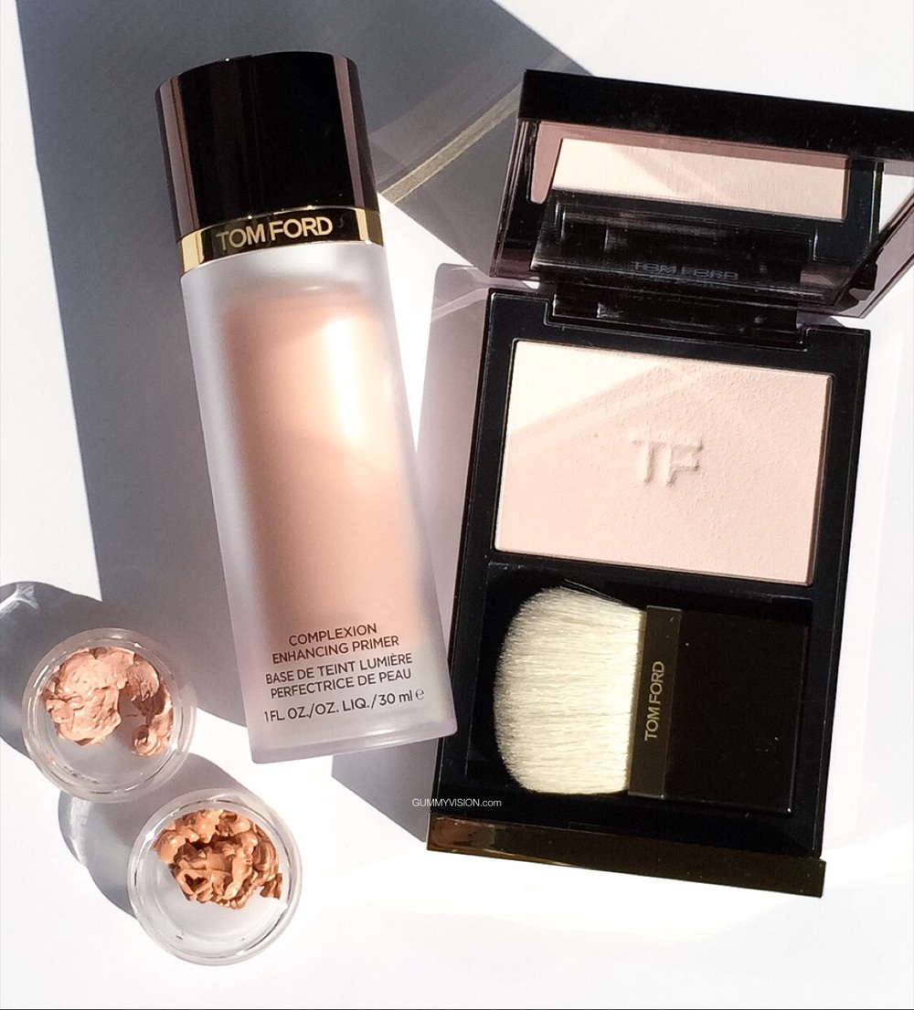 Tom Ford Fall 2015: Illuminating Powder In Translucent Pink, Complexion Enhancing Primer In Pink Glow & Peach Glow - gummyvision.com