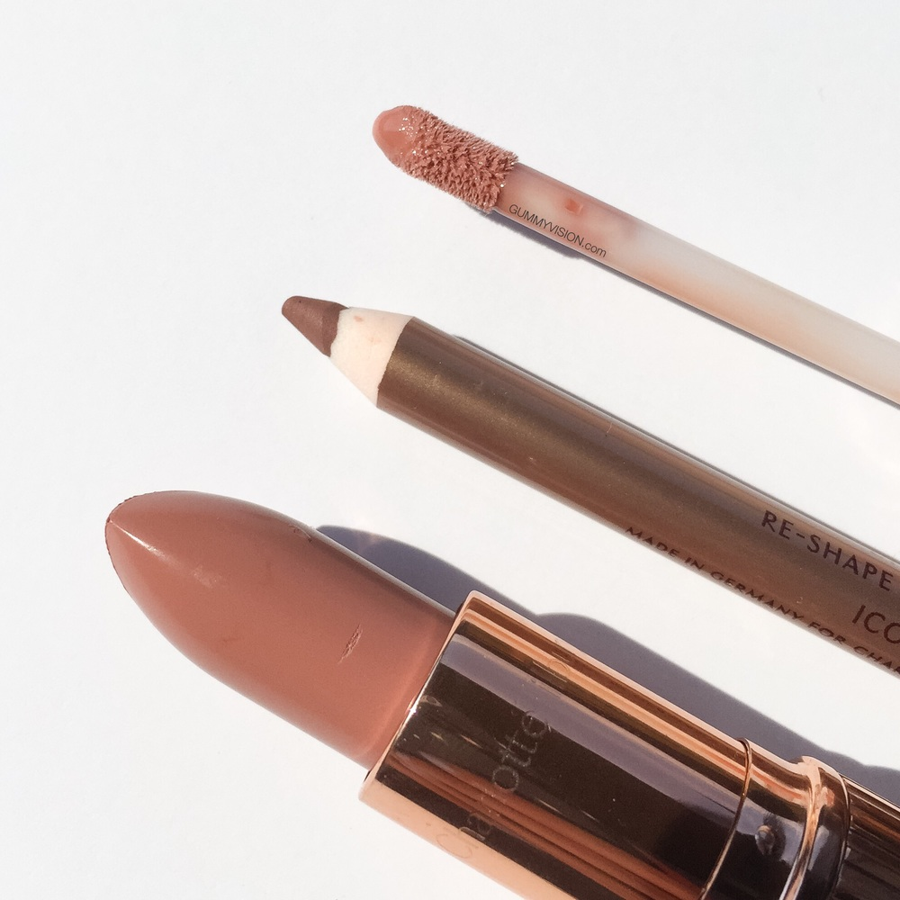 Charlotte Tilbury 'The Perfect Nude Kiss' Set, exclusive to Nordstrom, but can be purchased individually. The set includes full sizes of the following: K.I.S.S.I.N.G. Lipstick in Penelope Pink, Lip Cheat in Iconic Nude, Lip Lustre in Seduction - gummyvision.com
