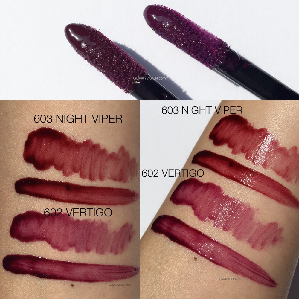 Click image to enlarge. Armani Ecstasy Lacquer In 603 Night Viper & 602 Vertigo - gummyvision.com