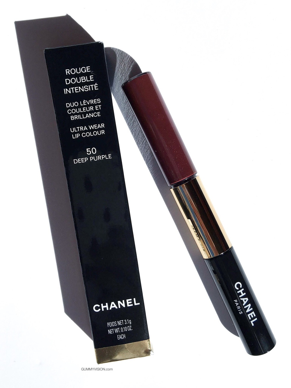 Chanel Rouge Double Intensite Ultra Wear Lip Colour In 50 Deep Purple - gummyvision.com