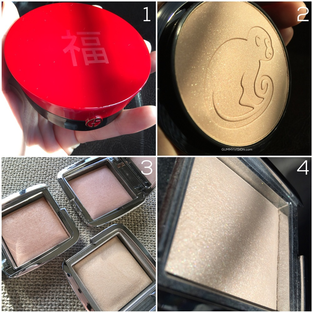 January Monthly - gummyvision.com - Armani Chinese New Year Highlighting Palette, Hourglass Ambient Strobe Lighting Powders (Iridescent, Euphoric, Brilliant)