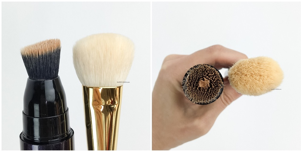 Surratt Surreal Real Skin Foundation Wand brush vs. Tom Ford Foundation Brush - gummyvision.com