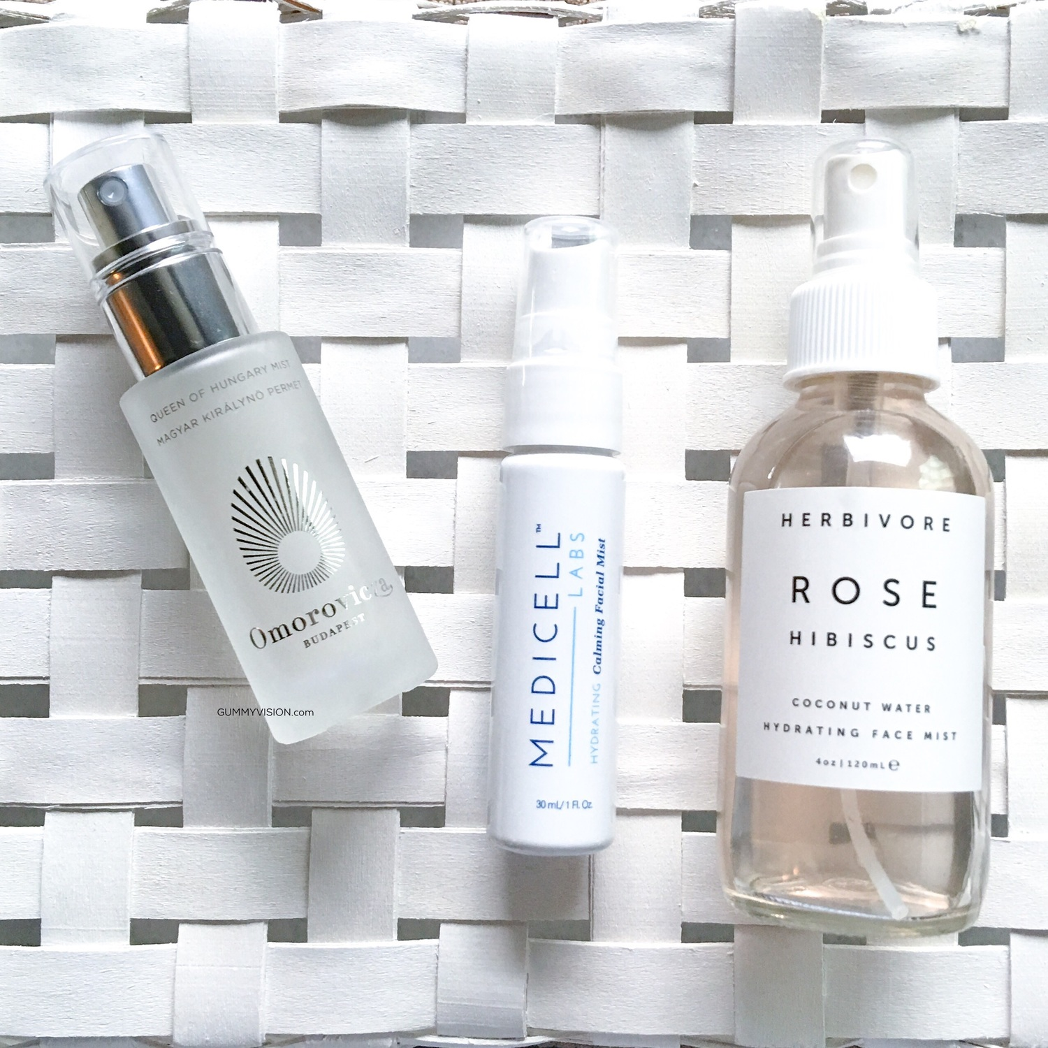 Face Mists: Omorovicza, Medicell & Herbivore