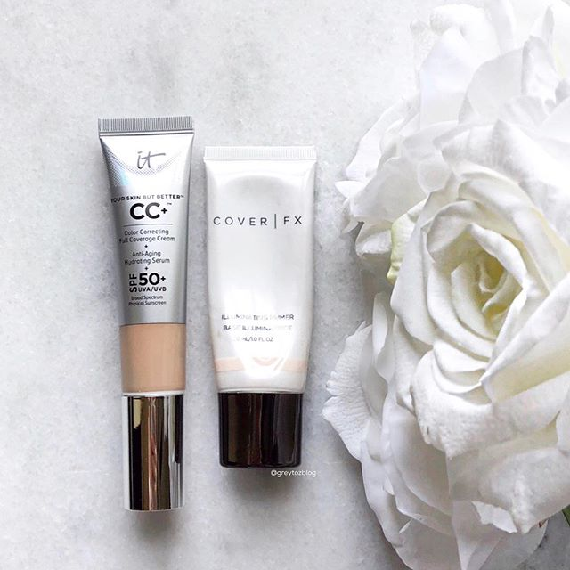 ✨✨Still my favorite combo for radiant, but not overly done skin: CoverFX Illuminating Primer + IT Cosmetics CC Cream✨✨