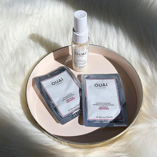 👩🏻‍🔬Testing these out today: Ouai Repair Shampoo & Conditioner, Ouai Leave in Conditioner - I'll report back... ☺️Hope everyone is having a lovely Sunday!