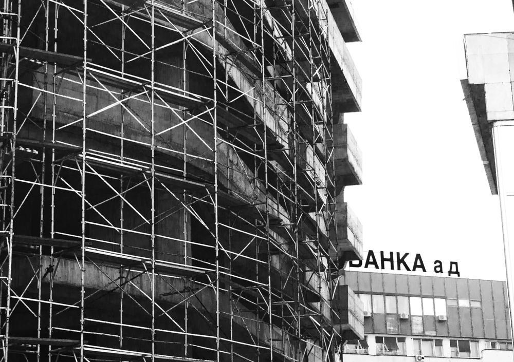 Scaffolding Skopje 2012