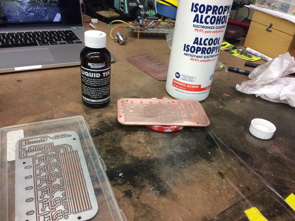 Tinning the PCBs