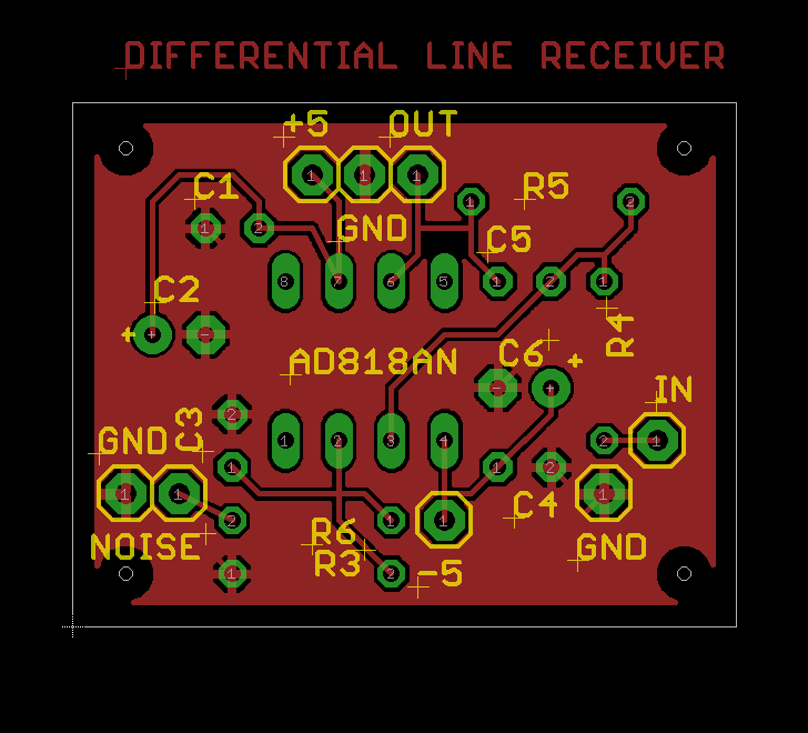 Figure 9. Differential Line Receiver on page 13 of the datasheet
