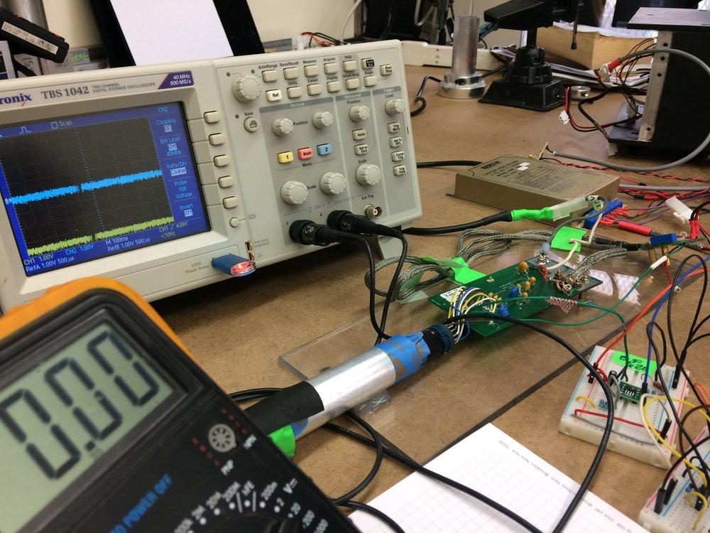 0vdc after capacitors