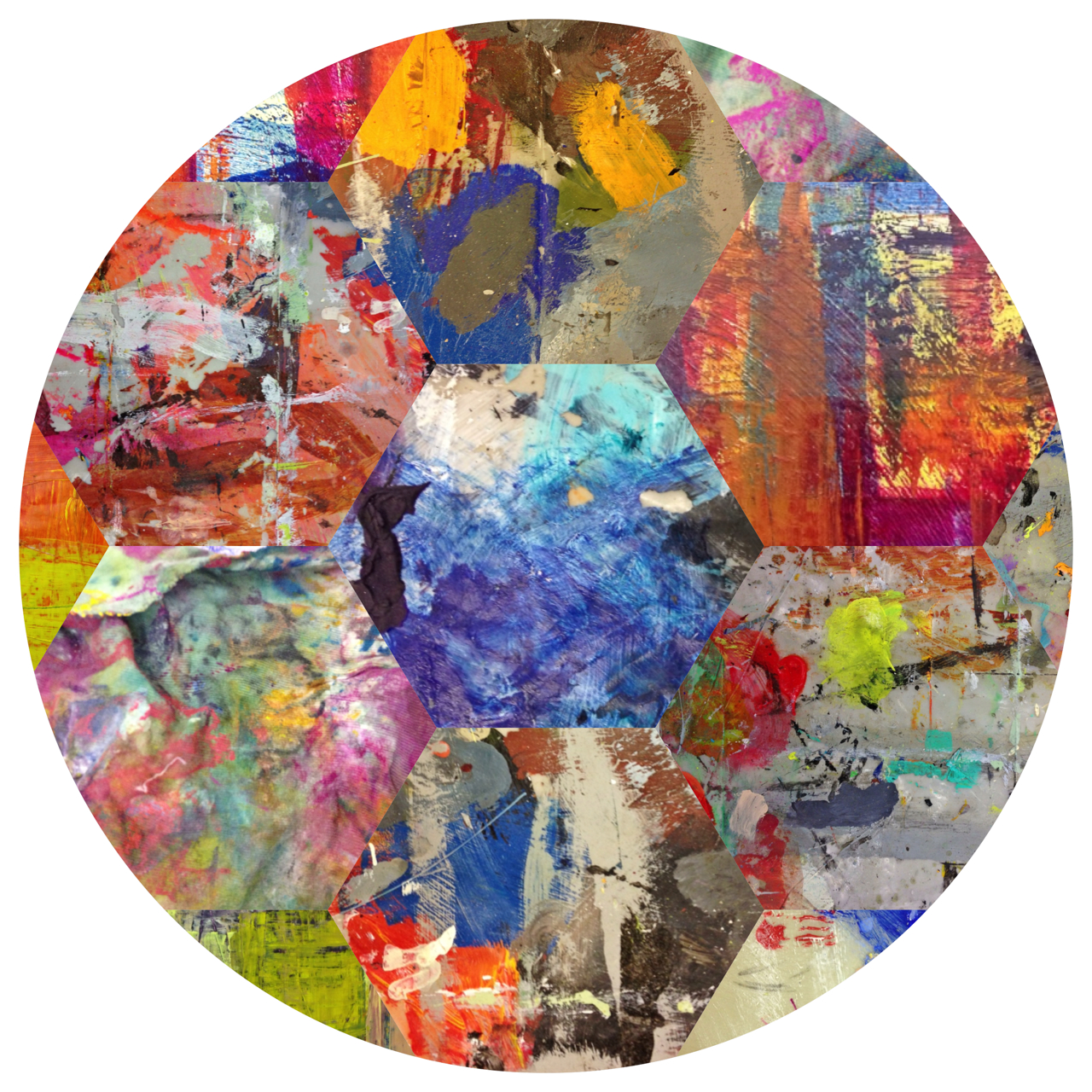 Pealing back the layers… Abstract Circle #4 by MCGadlin #gadlinscanvas