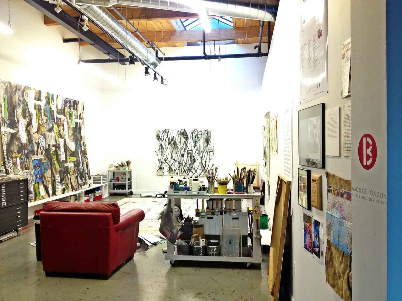 The art studio. #arthaus #MCGadlin