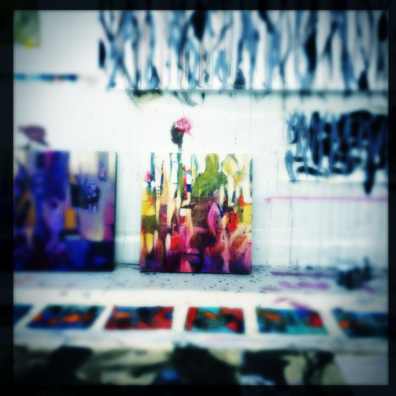 Some work sitting In the studio.