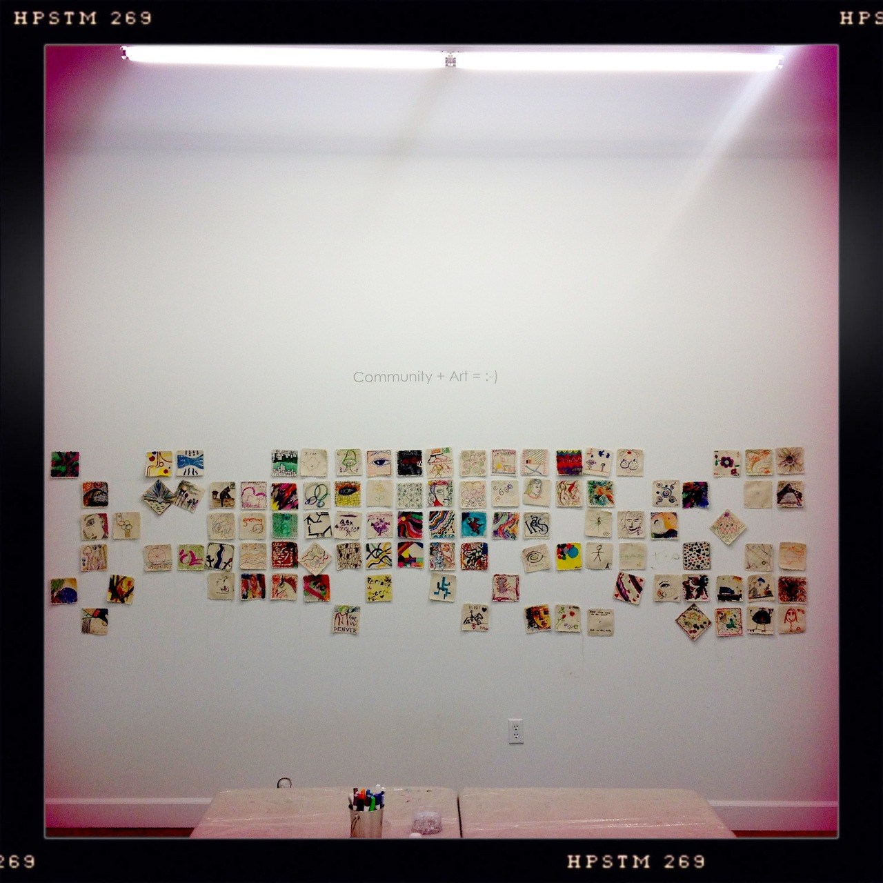 Thank you for the community art wall at our ArtHaus grand opening!  Watts Lens, Pistil Film, No Flash, Taken with  Hipstamatic
