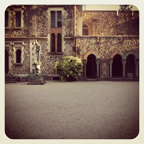 gadlinscanvas :     Walking along the courtyard of the Chateau in La Napoule, France.  (Taken with  Instagram  at Chateau de La Napoule)