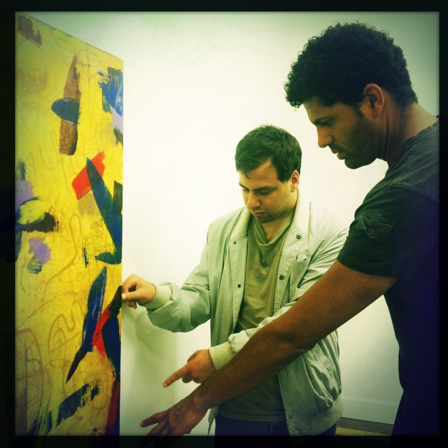 Zach and I woking together on the fundamentals of abstraction.