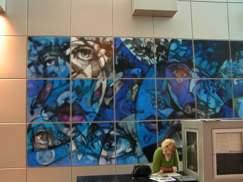 Public art commission @ District 2 Police Station, Denver CO. 2004.