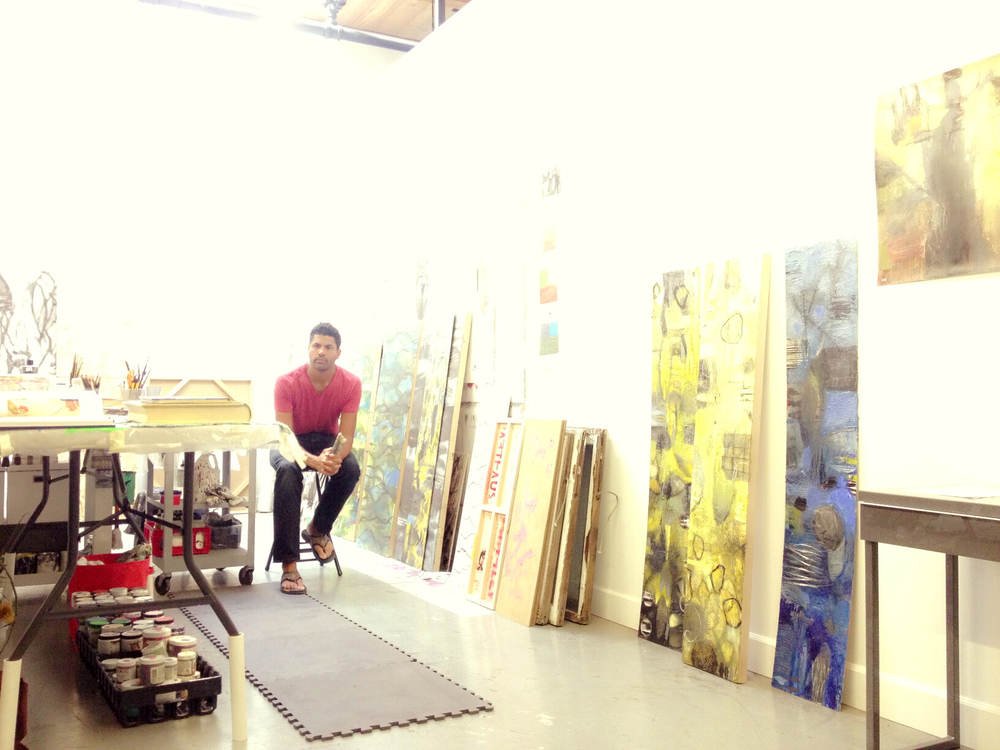 Michael's current studio at ArtHaus Gallery, 3343 Larimer St. Denver. Where he is also co-owner.