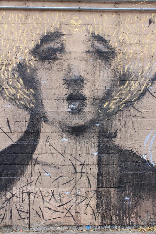 UAF Mural 2: Afro Gold