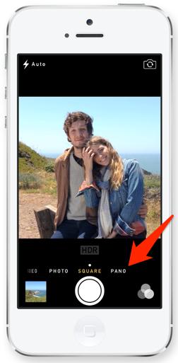 Pano Option within iOS 7 Camera App