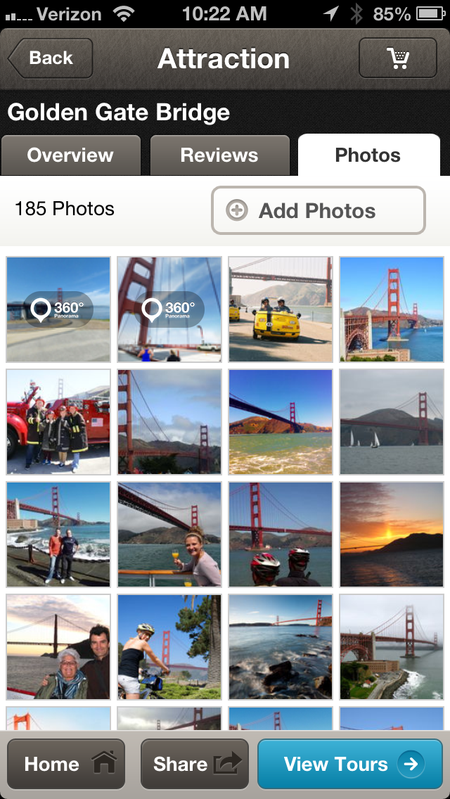 San Francisco Golden Gate Attraction:  Media Tab
