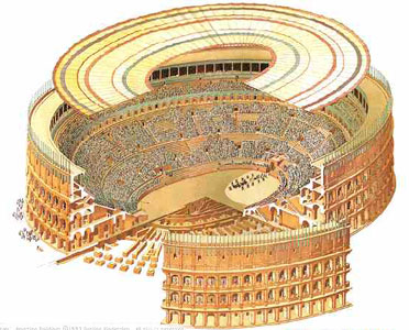 Computer rendition of Velarium in Ancient Rome